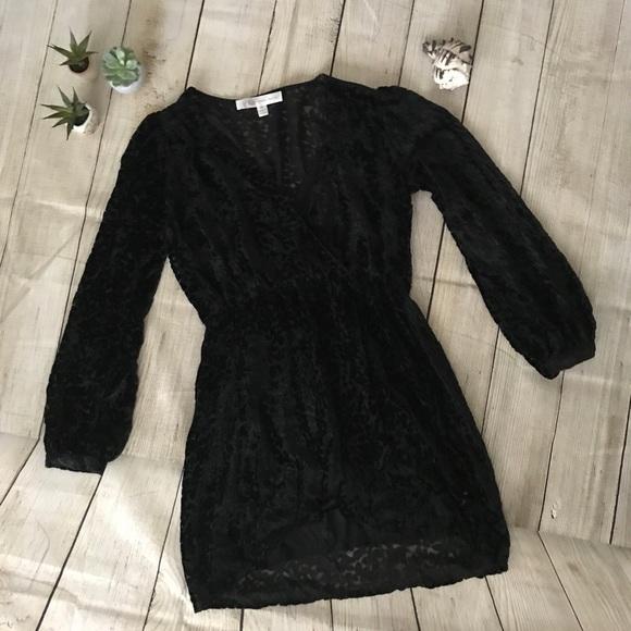 4adef0f4d20 Honey Belle black flocked velvet dress